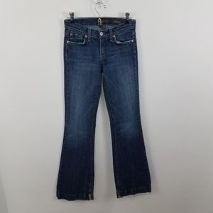 Fossil Jeans Womens Flare 25 x 32 Pants Denim Blue